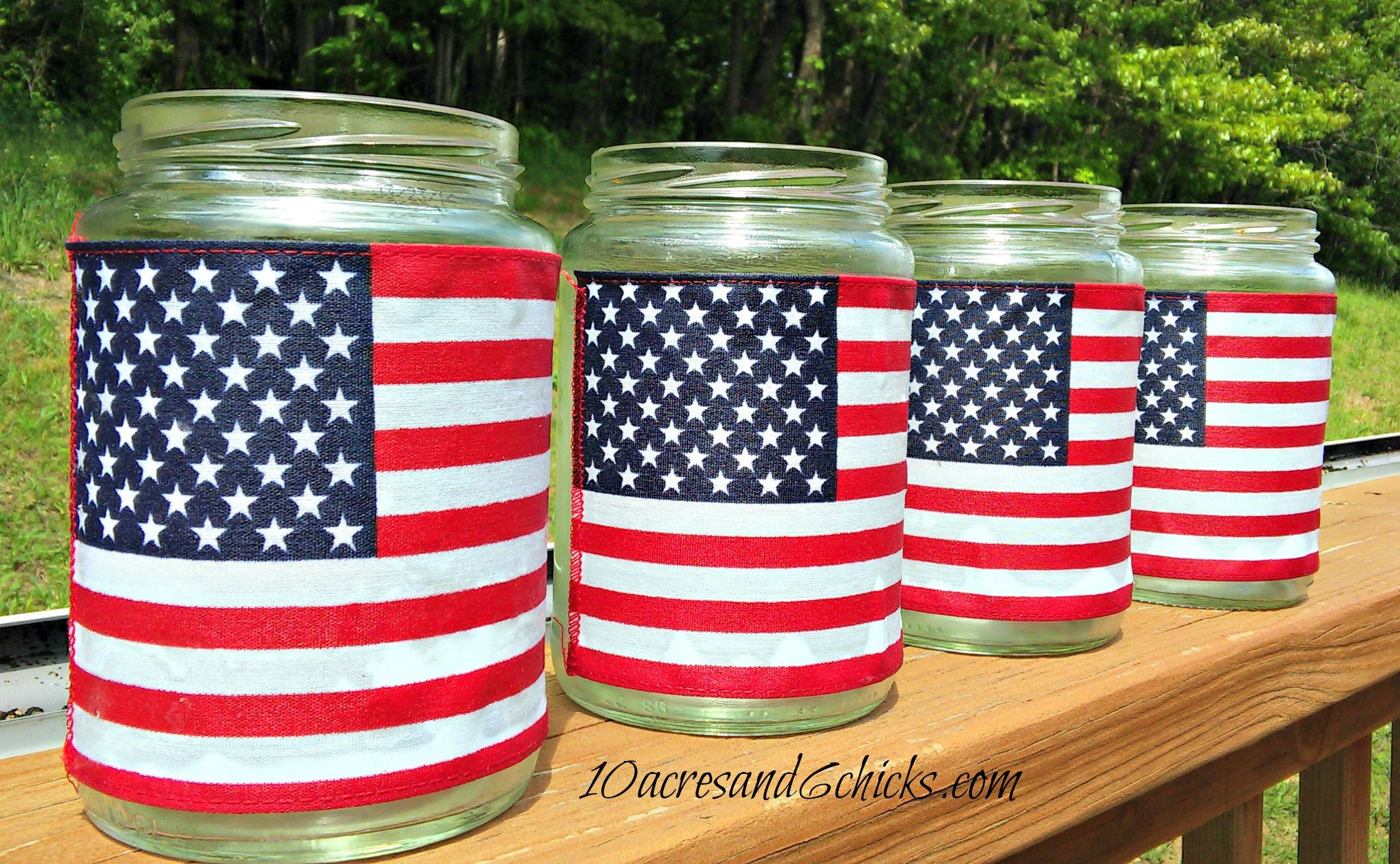 Patriotic Flag Jars Patriotic FlagsHoliday MoodNational