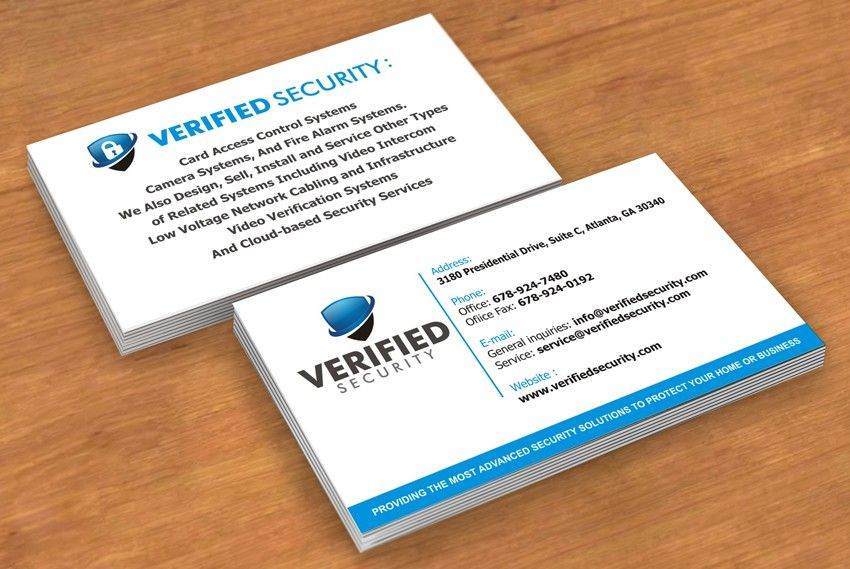 Need A Great Business Card Design For Verified Security By Mr