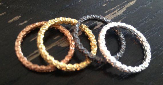SALE Dara Ettinger ANN Filigree Midi Ring Stack Set in Gold, Silver, Rose Gold, Gunmetal sz 5 on Etsy, $44.32 AUD