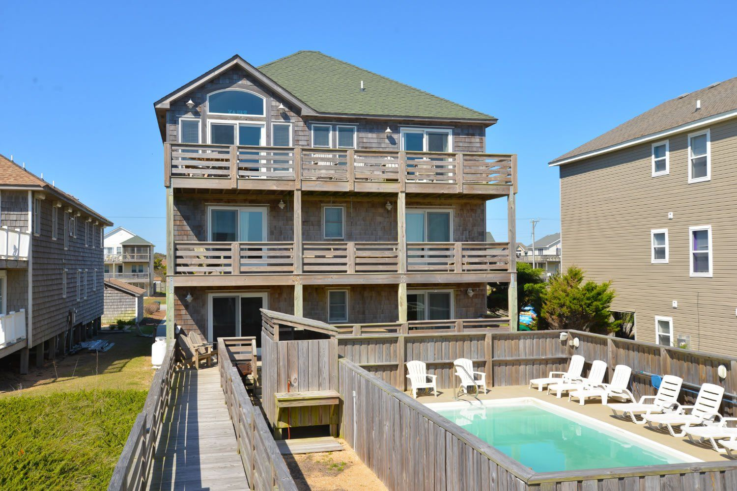 a perfect outer banks nc 6 bedroom 5 bathroom house rental in nags rh pinterest com