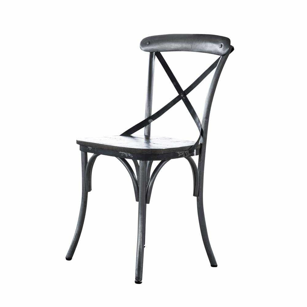 Esstischstuhl Set in Grau Industry Design (2er Set) Jetzt bestellen ...