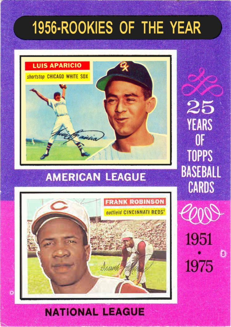 1975 topps 1956 rookies of the year baseball cards