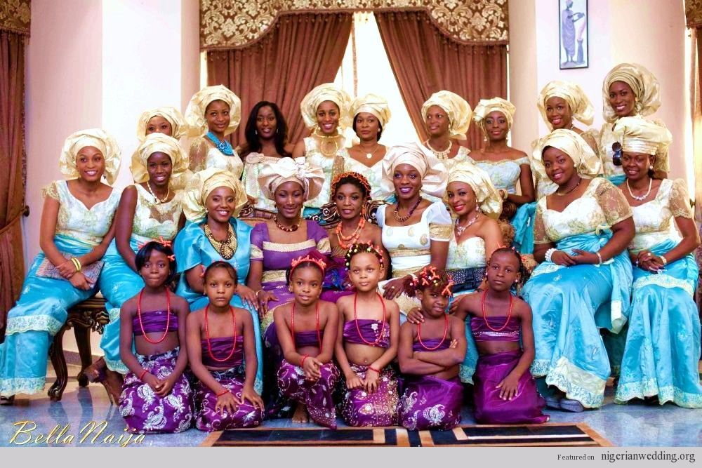 Nigerian Wedding: 16 Stunning & Colorful Aso-ebi Style