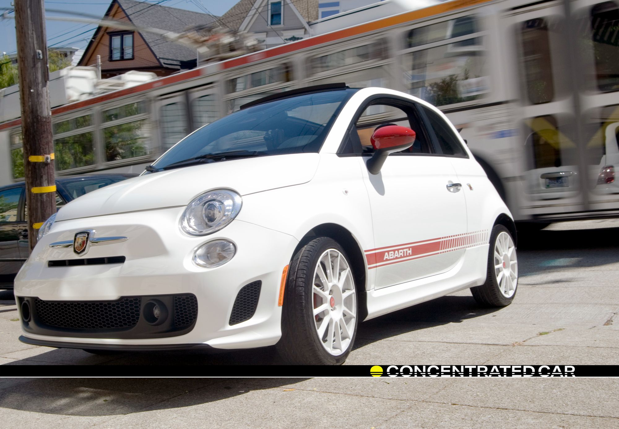 Fiat 500 Abarth 2 3 Sfmuni Bus Color Scheme Matches That Of Our