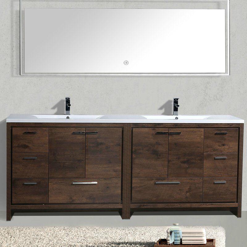 Gerard Free Standing Modern 83 Double Bathroom