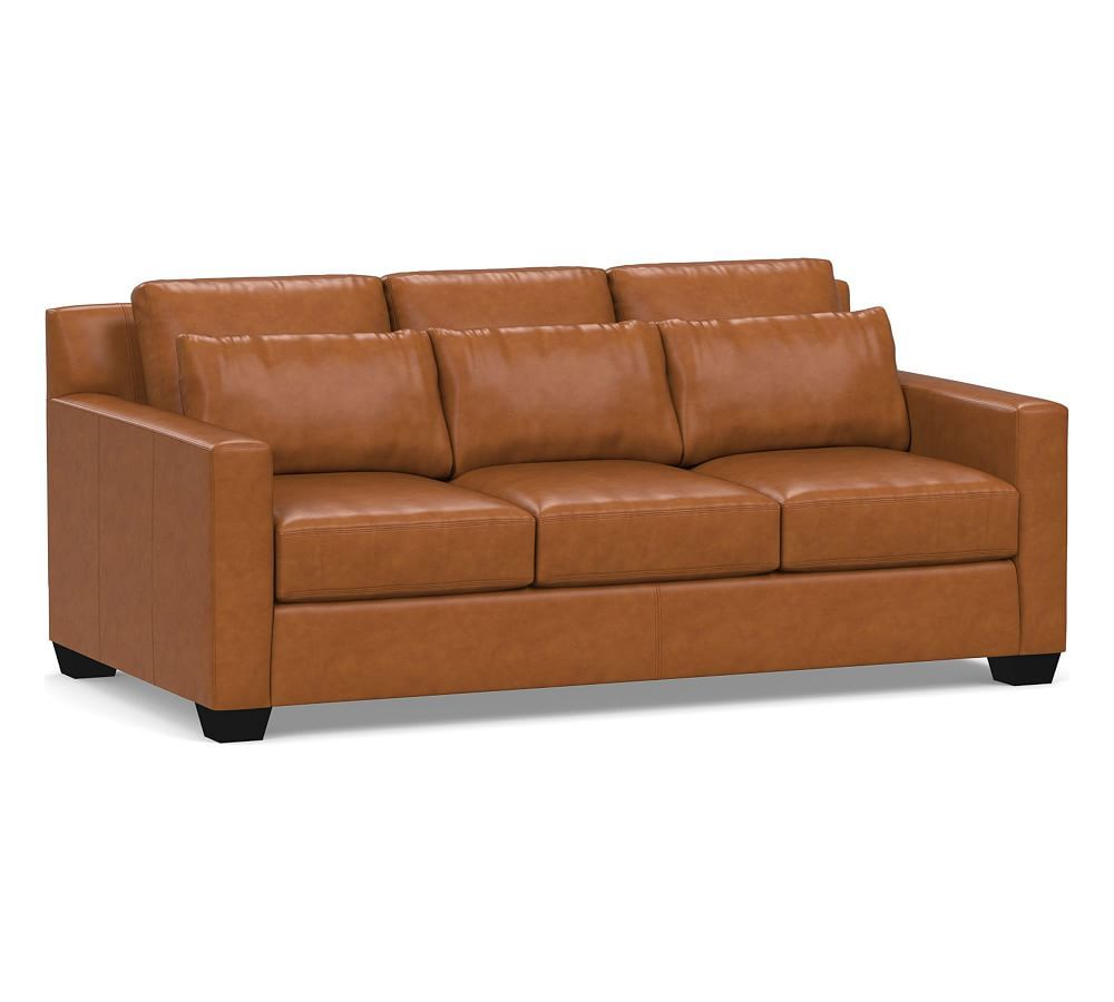 york deep square arm leather sofa collection products sofa rh pinterest com