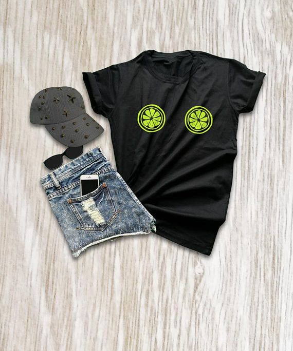 c95ca360136f89 Lemon print shirt funny boob t shirts sassy tops and tees lime shirt black  t shirt bra women funny f