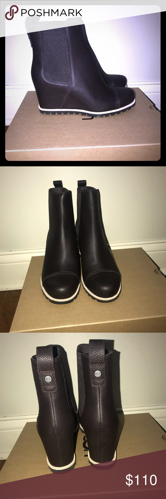 fcd4c983bae2 Ugg Pax Wedge Boot Stout Size 6.5 Ugg Brand Pax style Stout Color (dark  brown) New in box Size 6.5 UGG Shoes Winter   Rain Boots