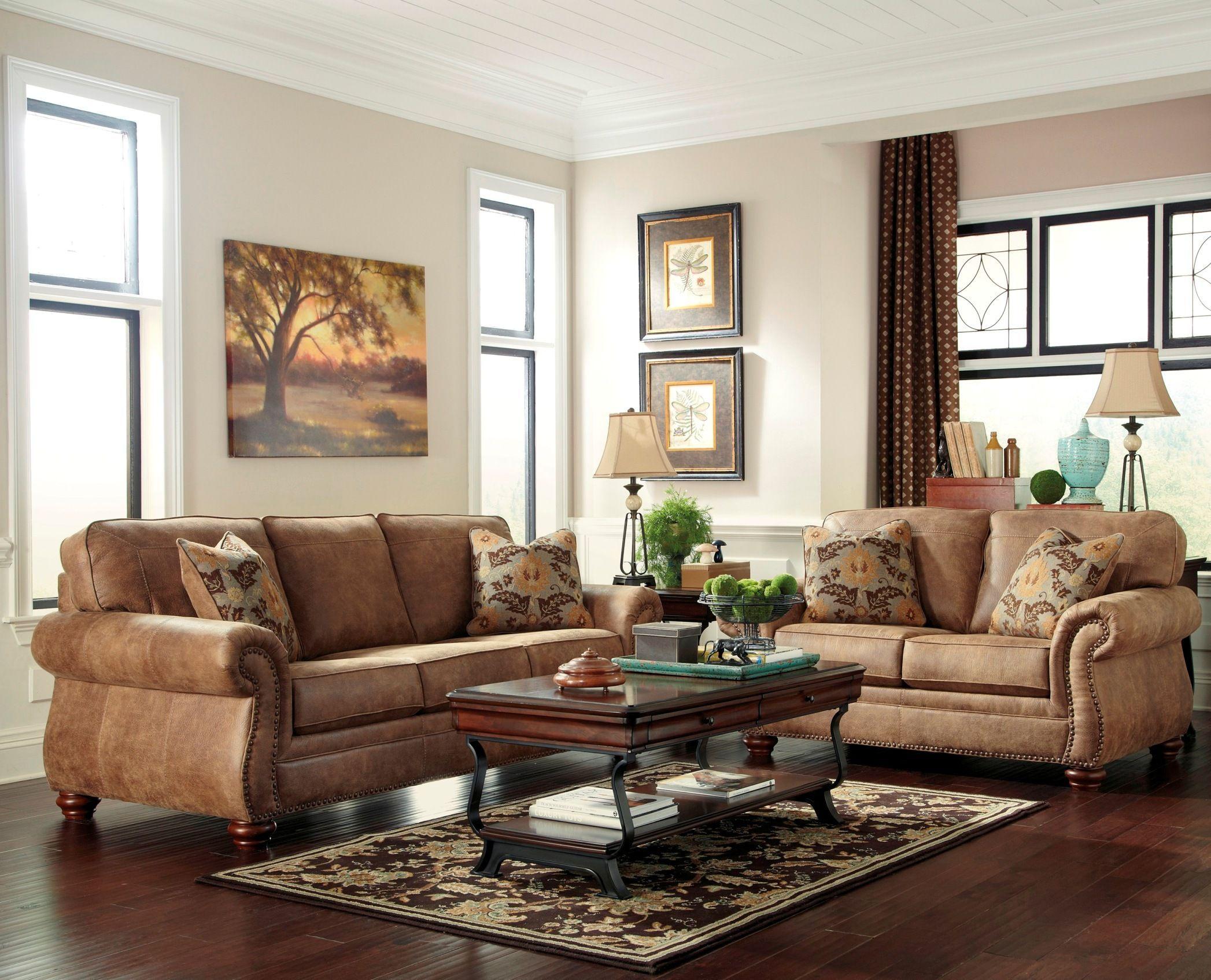 Larkinhurst Earth Living Room Set Asl 3190138 Room Homedecorwallartideas In 2020 Brown Living Room Brown Couch Living Room Living Room Decor Gray