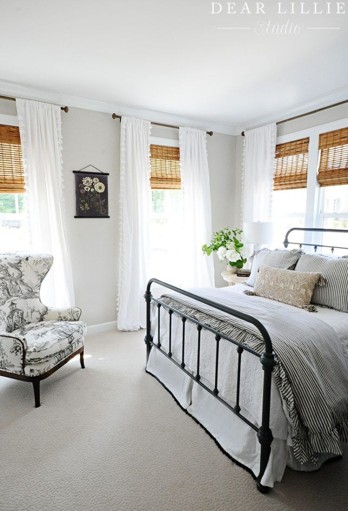 A Light and Bright Townhome Guest Bedroom Beige carpet