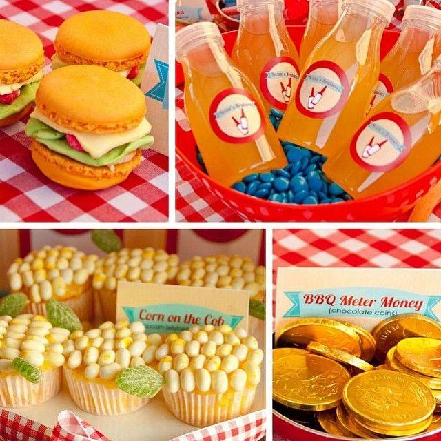 Härligt tema från @catchmyparty  Älskar idén med de hamburgerinspirerade macronsen!  #catchmyparty #inspiration #partyinspiration #kalasinspiration #fest #kalas #barnkalas