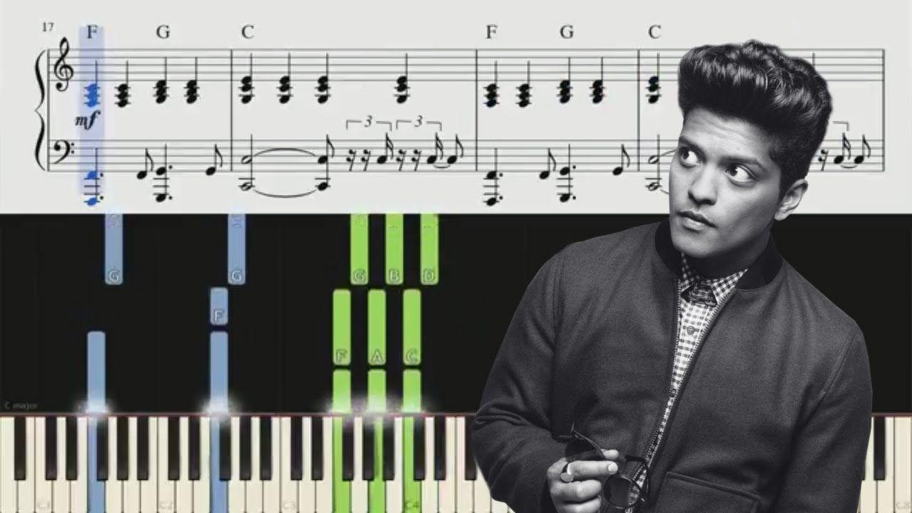 When I Was Your Man Bruno Mars Piano Tutorial Chords In 2020