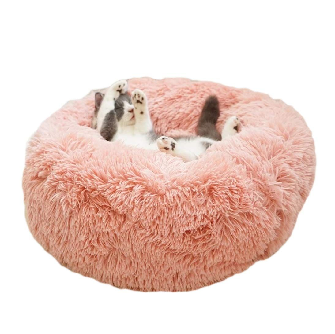 Fymall Luxury Faux Fur Pet Bed For Cats Small Dogs Cuddler Oval Plush Bed Walmart Com In 2021 Faux Fur Pet Bed Faux Fur Dog Beds Dog Bed Luxury