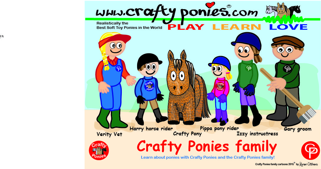 Meet The Characters Of The Crafty Ponies Family Verity Vet Harry