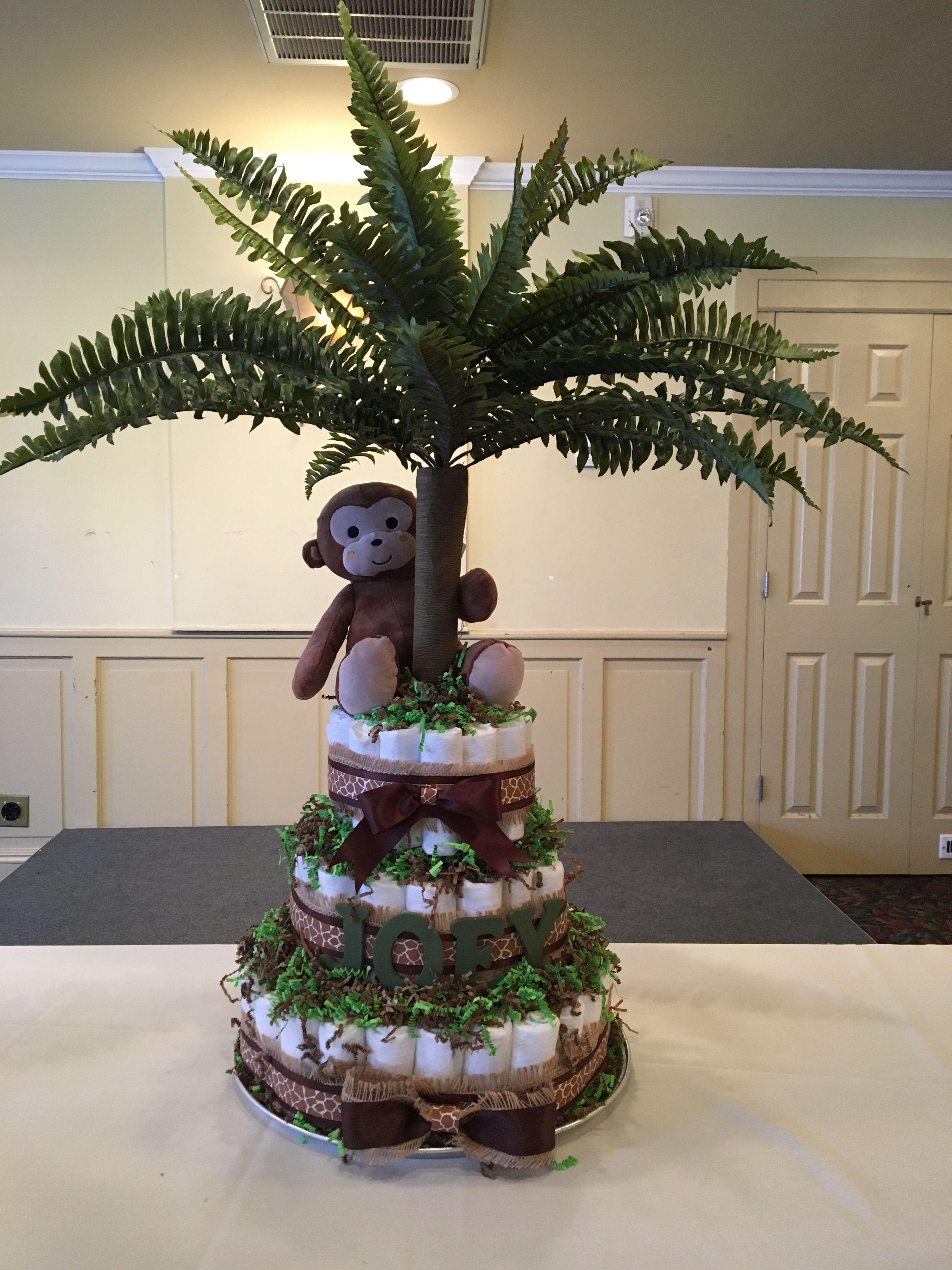 Baby Shower Jungle Theme Diaper Cake Kiaan Babu Boy Baby