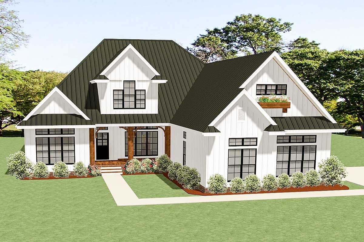 3 Bed Country Craftsman House Plan With Room To Expand 46331la Architectural Designs House Plans Craftsman House Plans Craftsman House New House Plans