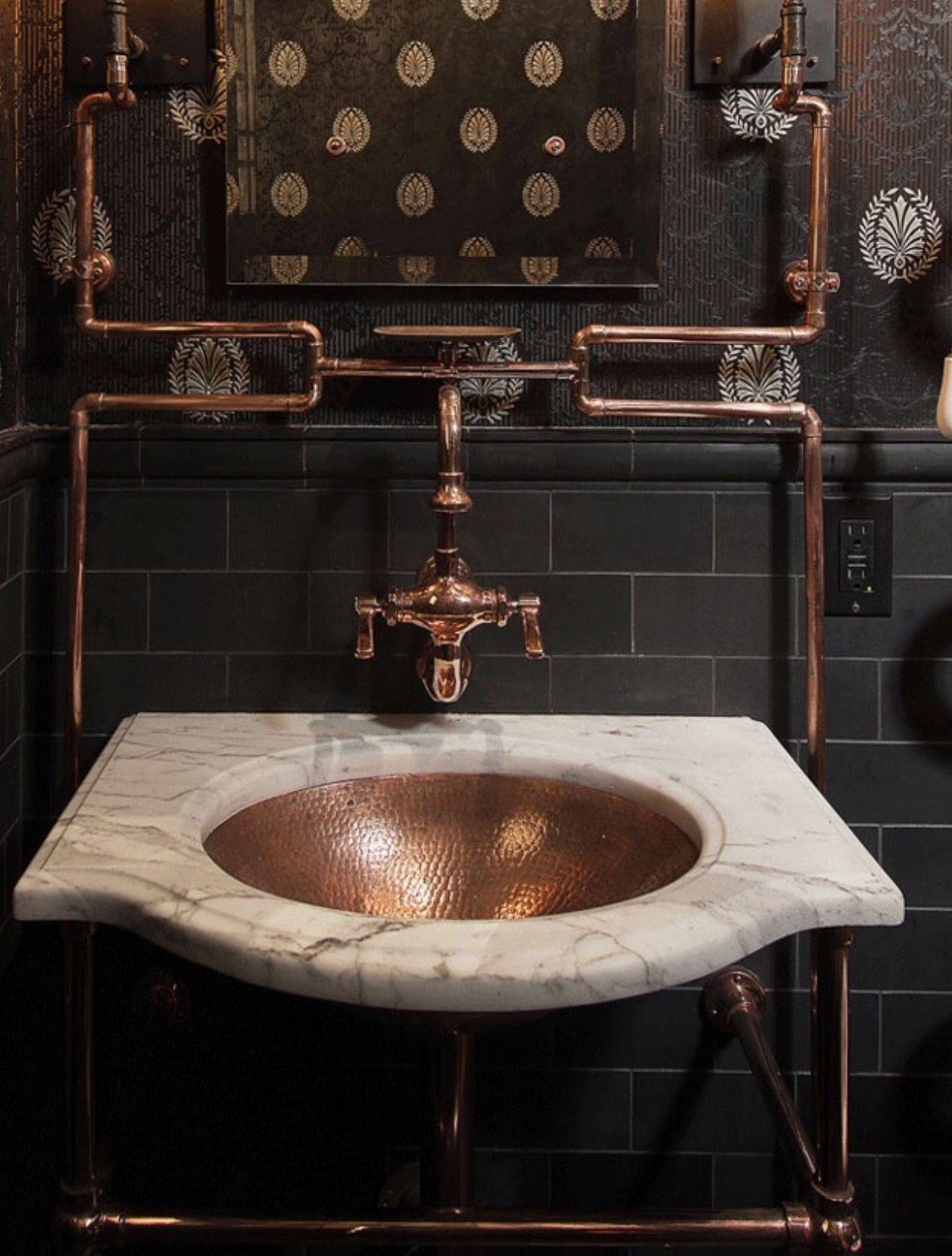 steampunk inneneinrichtung gestalten tipps, pin von ej baker auf bathrooms | pinterest, Design ideen