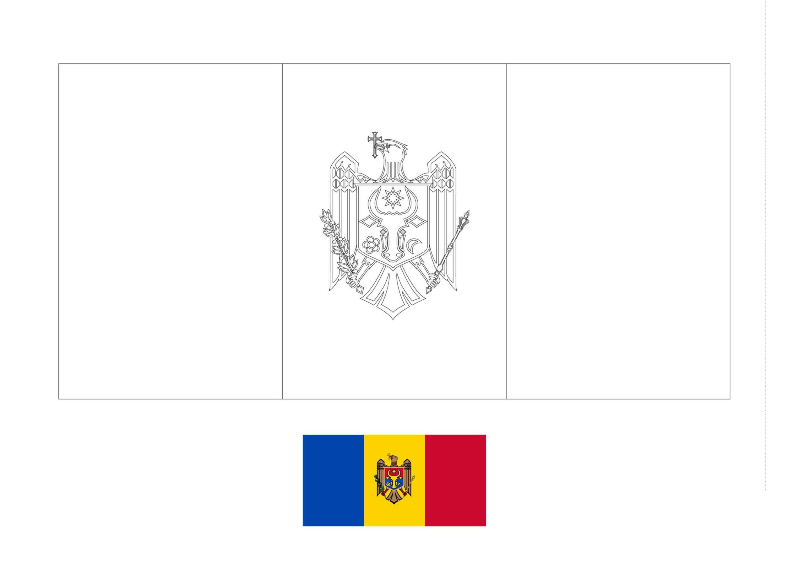 Moldova Flag Coloring Page Flag Coloring Pages Coloring Pages Free Coloring Sheets