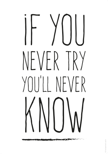 Tekst Poster If You Never Try You U2019ll Never Know Try Quotes True Quotes Inspiring Quotes About Life