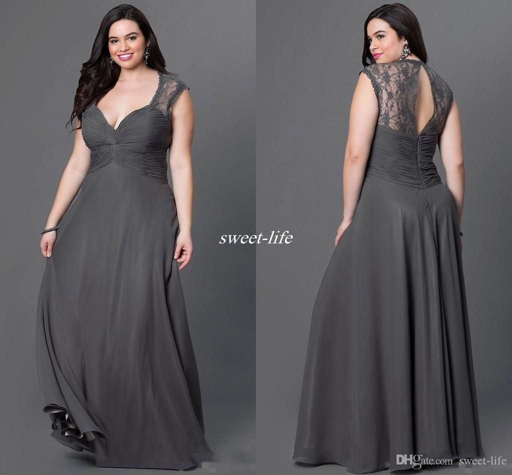 Gray chiffon plus size bridesmaid dresses 2016 sexy open for Sexy plus size wedding dresses