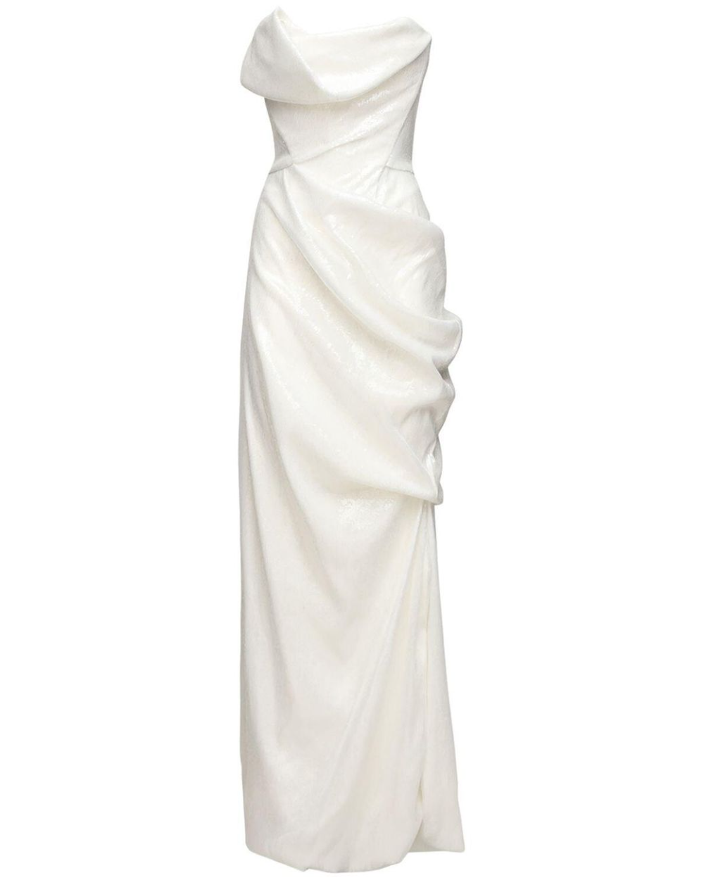 Vivienne Westwood White Strapless Sequined Dress I 2021 [ 1250 x 1000 Pixel ]