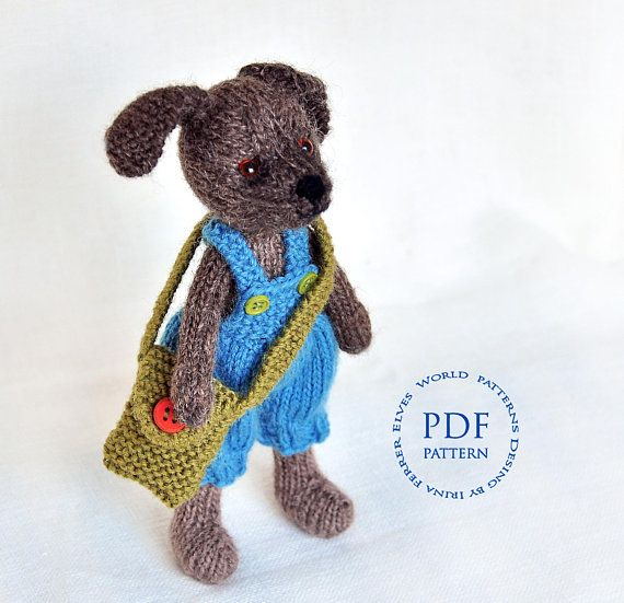 Toy Knitting Pattern Toy Dog Charlie Knitted Dog Pattern Amigurumi