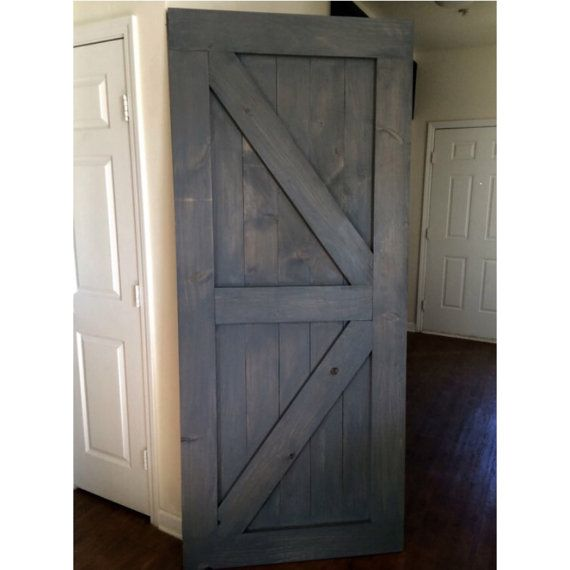 Custom Made Sliding Barn Door British Brace By RusticLuxeBoutique
