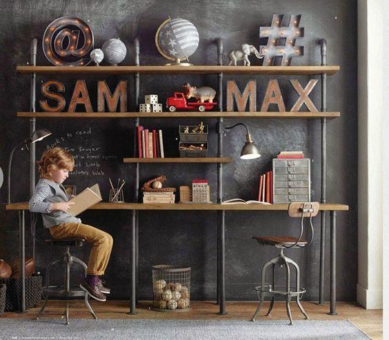 Vintage Kids - Una habitación infantil de estilo Industrial ...