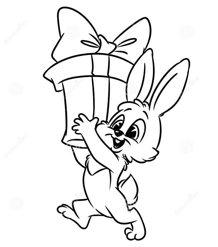 Christmas Bunny Coloring Pages Bunny Coloring Pages Christmas Bunny Bunny Gifts