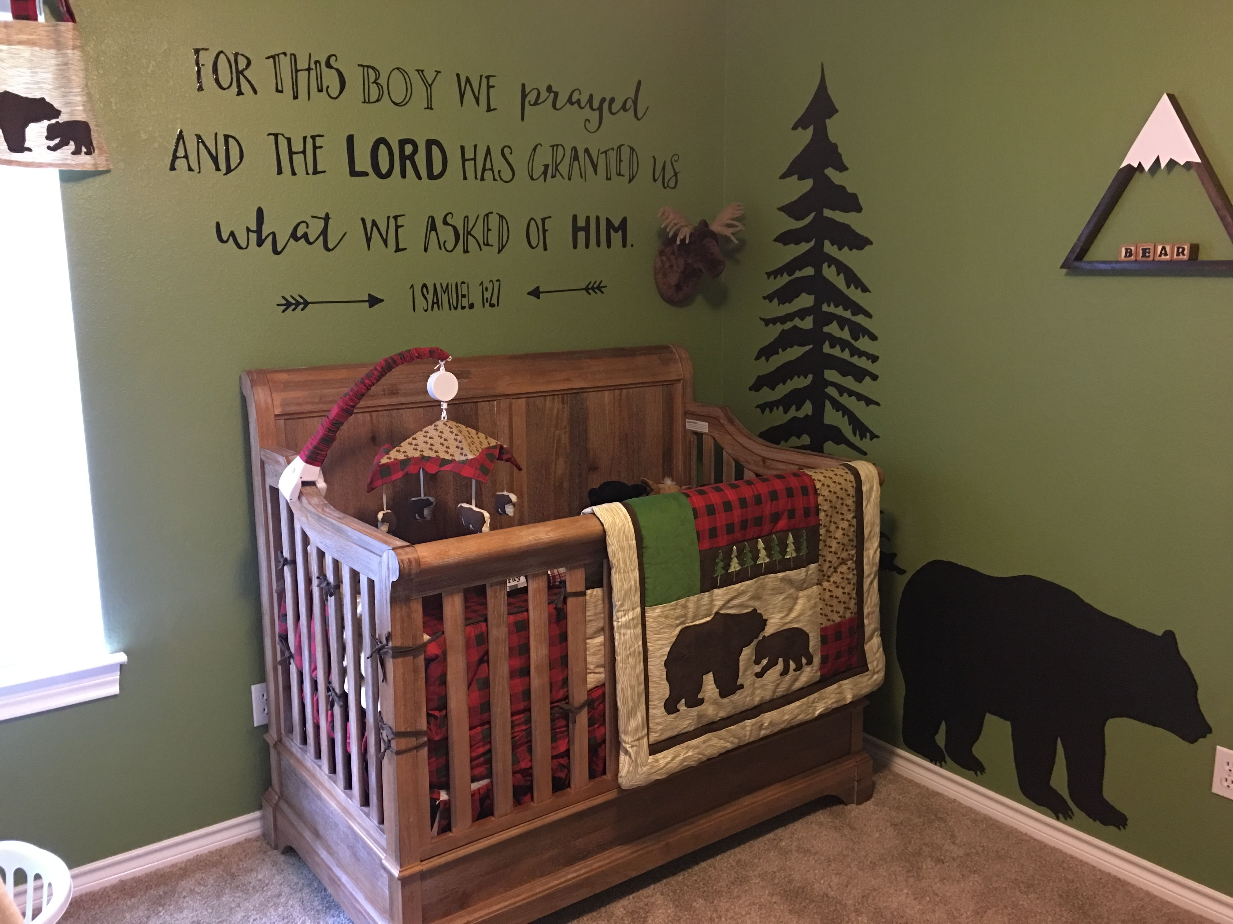 lumber jack woodland baby decor bedroom