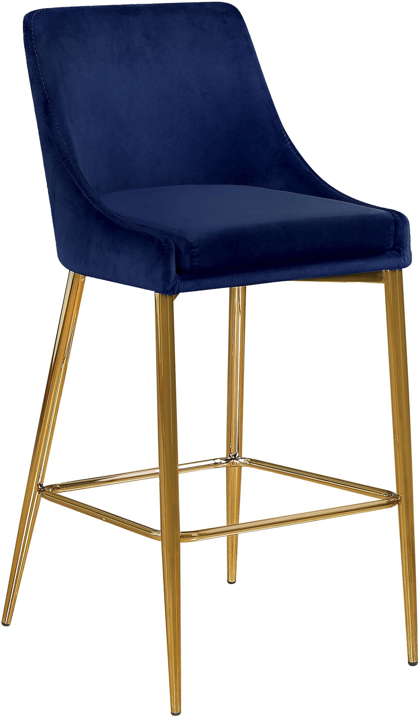 Karina Navy Bar Stool 789 Meridian Furniture Bar Tables Bar Stools Counter Stools Green Bar Stools