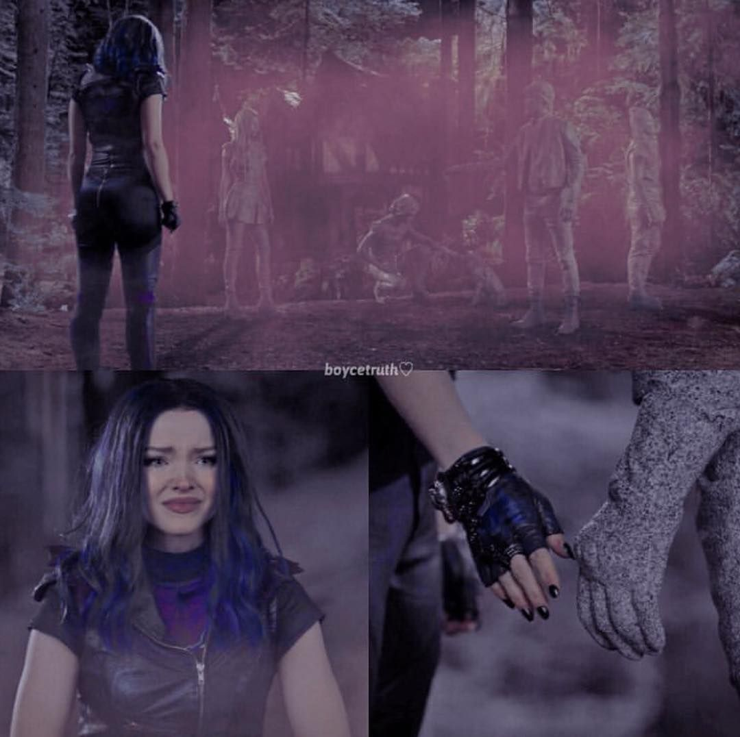 Everythime there is pink smoke everybody turns into stone in #descendants3  Cred #descendants3