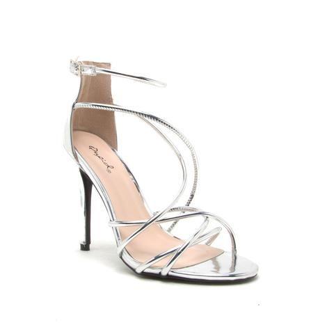 7420b213ef Strappy Sandals Heels, Stiletto Heels, Metallic Heels, Open Toe, Ticket,  Festive