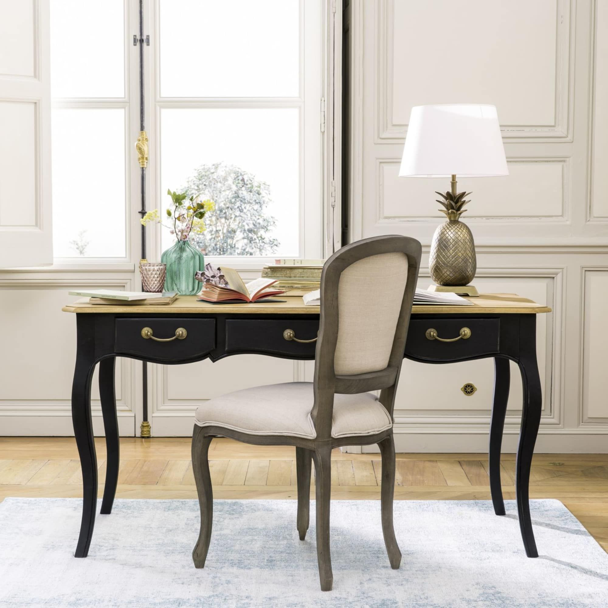Bureau En Manguier Noir Versailles Maisons Du Monde Home Decor Mango Wood Desk Affordable Furniture
