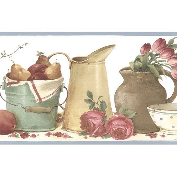 Norwall Wallcoverings Inc Kitchen Elements 15 X 6 Picnic Border Wallpaper Wallpaper Border Kitchen Wallpaper Border Wallpaper