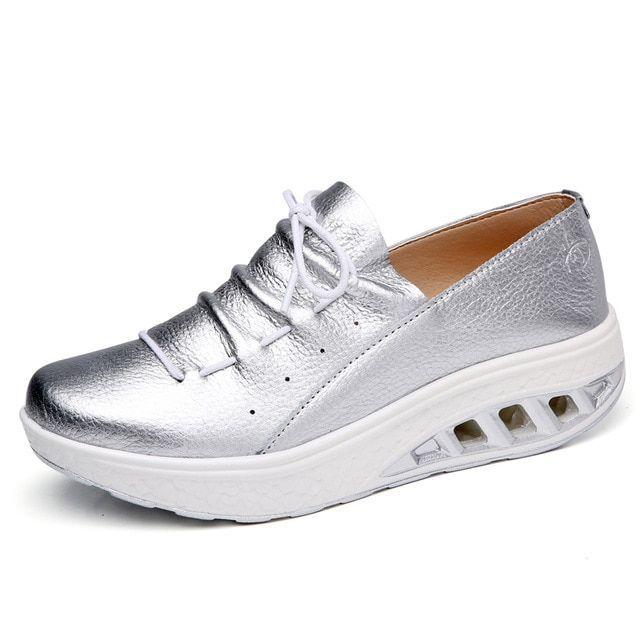 Stq spring women platform sneakers shoes lace up genuine leather platform shoes ladies flat s Stq spring women platform sneakers shoes lace up genuine leather platform sh...