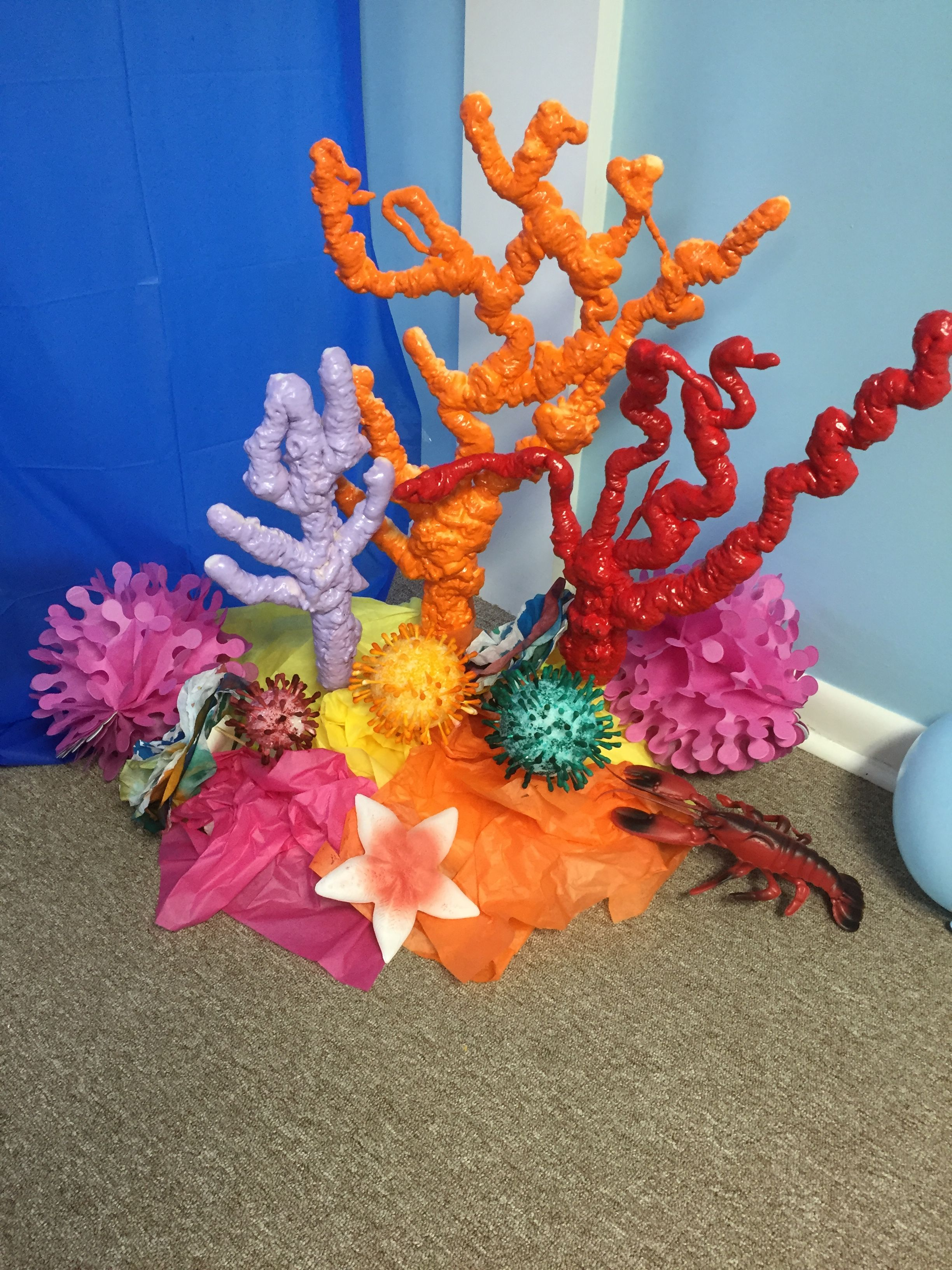 UNDER THE SEA OCEAN CORAL REEF TABLE CENTREPIECE PARTY DECORATION