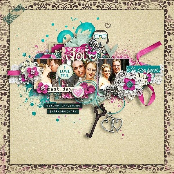 And they lived... kit by Kawouette <br /> <br />This set includes : <br /> <br />-61 elements, .png, 300 dpi <br /> <br />-13 papers, 12X12, .jpg, 300dpi <br /> <br />Personal use only.