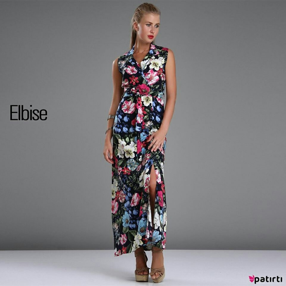 Patırtı çiçekli Elbise