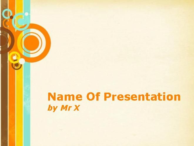 Vintage Circles Background Main PPT Presentation Theme | Accounting ...