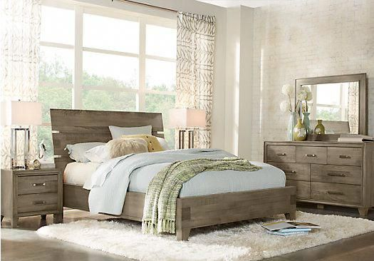 crestwood creek gray 7 pc king panel bedroom in 2018 furniture rh pinterest com