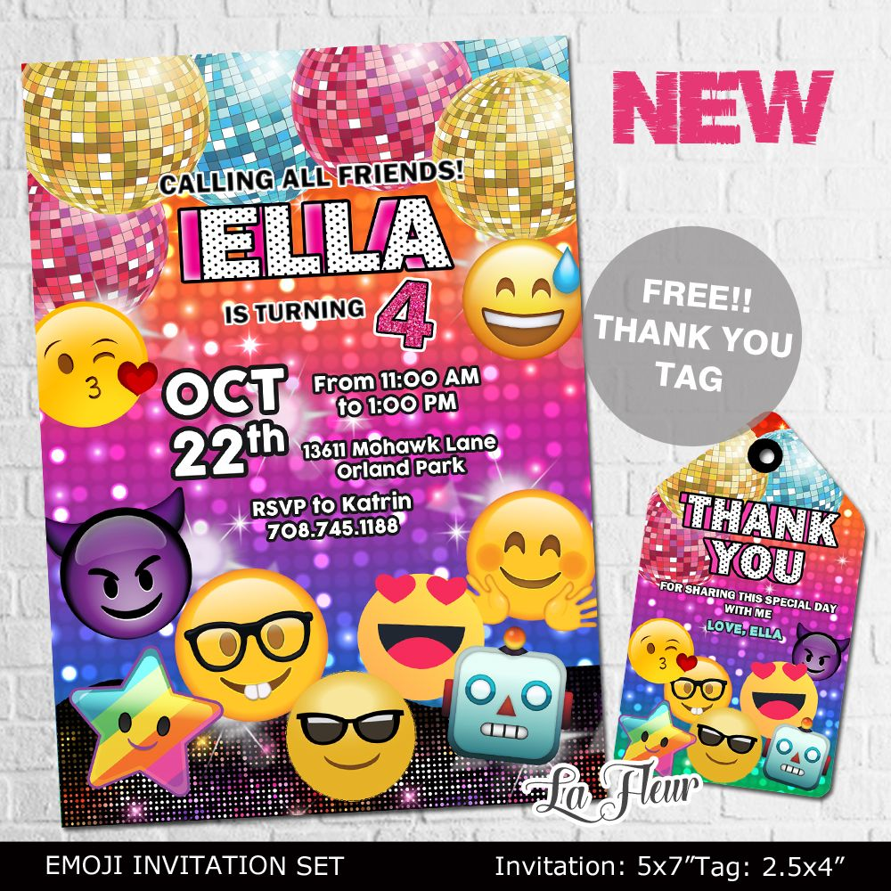 emoji emoji invitations emoji birthday party emoji theme