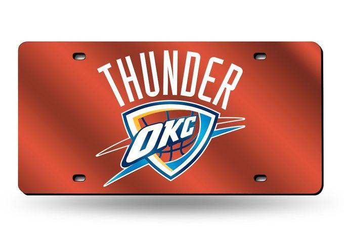 Oklahoma City Thunder Laser Cut Orange License Plate