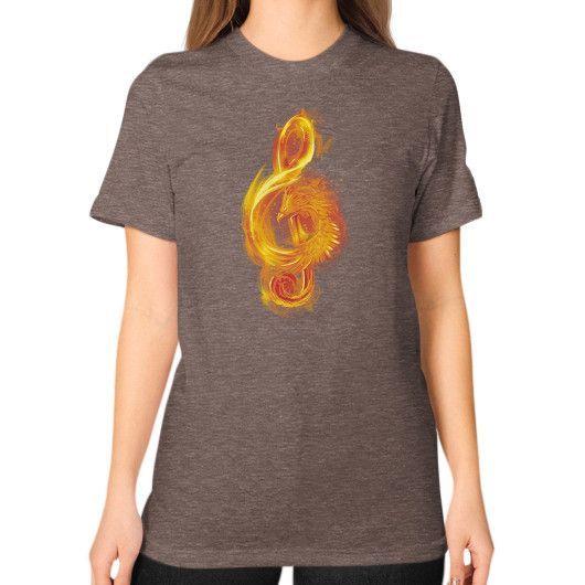 Music Reborn Unisex T-Shirt (on woman)