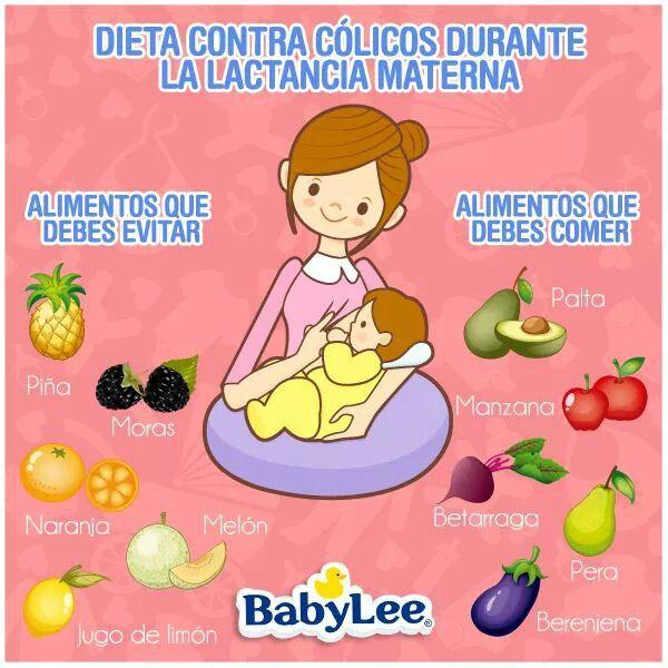 comidas para evitar colicos en los bebes