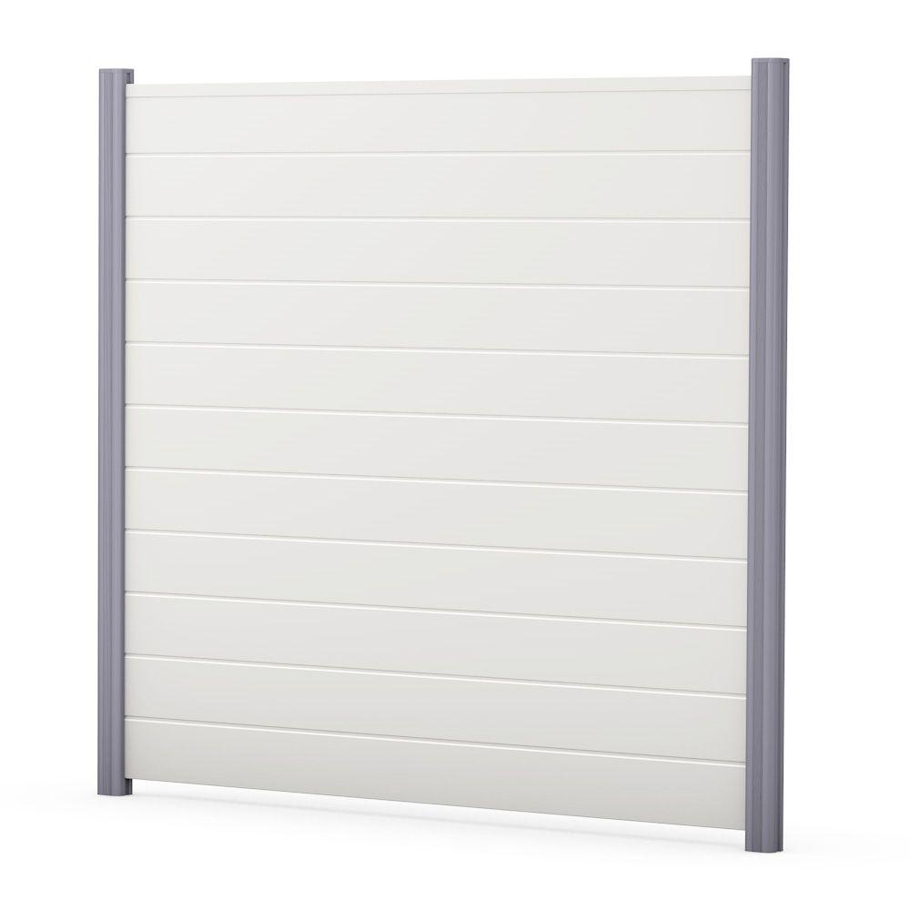 Sichtschutzzaun Kunststoff Bausatz Basicline Weiss