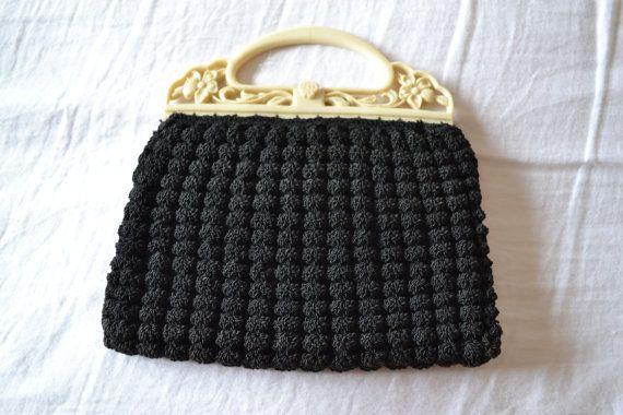 VENDITA Vintage 1930 borsa/borsetta all'uncinetto / di Lacoona