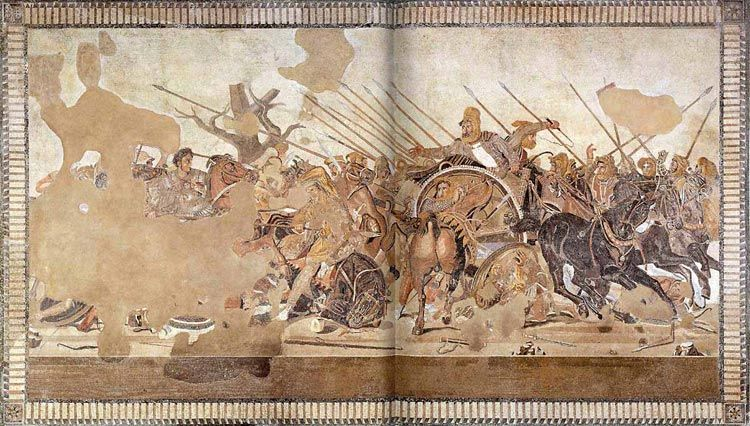 Alexander mosaic battle of issus at pompeii roma art for Battle of issus painting
