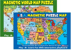 Magnetic Map by Ata-Boy, Inc. | Unschooling | Map puzzle ...