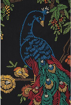 UrbanOutfitters.com > Midnight Peacock Tapestry